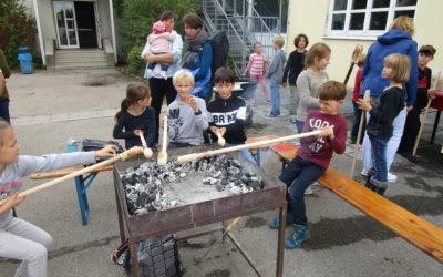 Pizzabackaktion des Spielbusses